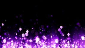 Tło z błyszczącymi magenta cząsteczkami Piękny bokeh światła tło Magenta confetti migocący, magiczny lśnienia światło royalty ilustracja