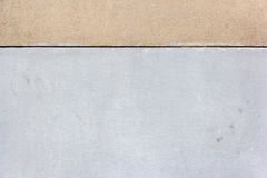 Tło z białym i brązowić dwa betonowego bloku ściana Zdjęcie Stock