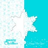 Tło z Bożenarodzeniowym symbolu wzorem Boże Narodzenia i nowego roku kartka z pozdrowieniami szablony - płatek śniegu Fotografia Royalty Free