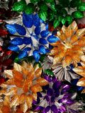 Tło z Bożenarodzeniowymi ornamentals Zdjęcia Stock
