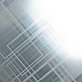Tło z budową i jaskrawym światłem ilustracja wektor