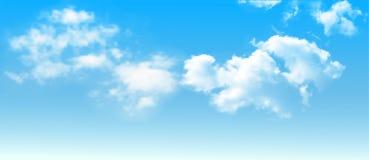 Tło z chmurami na niebieskim niebie Wektorowy tło ilustracji