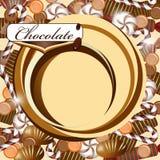 Tło z czekoladowym cukierkiem Fotografia Stock