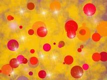 Tło z czerwieni i kolor żółty okręgami Obrazy Stock