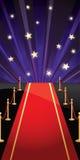 Wektorowy tło z czerwonym chodnikiem i gwiazdami royalty ilustracja