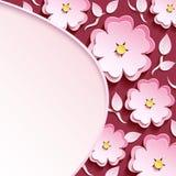 Tło z 3d Sakura i liście Zdjęcia Stock