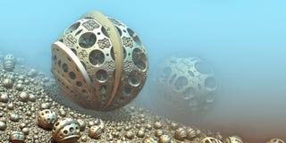 Tło z 3D sferami ilustracji