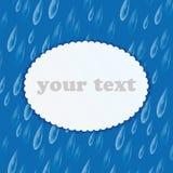 Tło z deszcz kroplami i rama dla twój teksta royalty ilustracja
