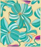 Tło z dużymi kwiatami dalej Obrazy Royalty Free