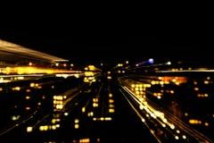 Duzi miast światła Zdjęcia Stock
