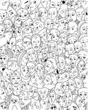 Tło z dziwacznymi twarzami ilustracja wektor