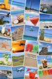 Tło z fotografiami od wakacje, słońce, plaża, wakacje Obrazy Royalty Free