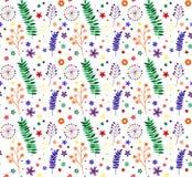 Tło z gałąź, kwiatami i leav jaskrawymi stubarwnymi, Zdjęcie Stock