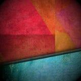Tło z grunge teksturą i kruszcowym błękitnym faborkiem Zdjęcie Stock