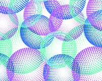 Tło z kolorowym halftone okręgiem Obraz Stock