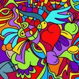 Tło z kolorowymi kształtami Zdjęcie Royalty Free