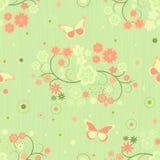 Tło z kwiatami i motylami ilustracja wektor