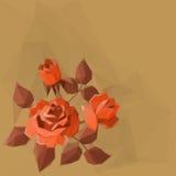 Tło z kwiatem Wzrastał Zdjęcie Stock