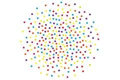 Tło z nieregularnymi, chaotycznymi kropkami, punkty, okrąg Festiwalu wzór ilustracji