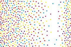 Tło z nieregularnymi, chaotycznymi kropkami, punkty, okrąg Festiwalu wzór ilustracja wektor