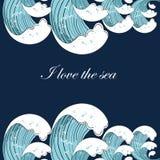 Tło z ocean fala Zdjęcie Royalty Free