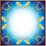 Tło z ornamentem zrobił †‹â€ ‹cenni kamienie i flowe Obrazy Royalty Free
