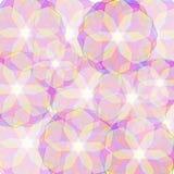 Tło z półprzezroczystymi barwionymi kwiatami Obrazy Royalty Free