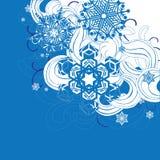 Tło z płatek śniegu Zdjęcia Stock