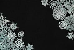 Tło z płatkami śniegu Fotografia Royalty Free