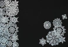 Tło z płatkami śniegu Zdjęcia Stock
