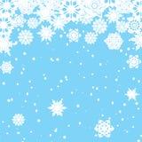 Tło z płatkami śniegu Obrazy Royalty Free