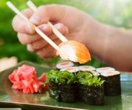 tło z pałeczek sushi Zdjęcie Royalty Free