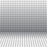 Tło z perspektywiczną siatką. ilustracji
