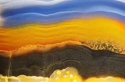 Tło z plasterkiem naturalny kamienny agat zdjęcie stock