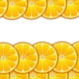 Tło z pomarańczowymi plasterkami ilustracji