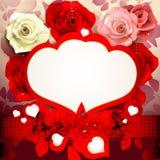 Tło z różami Zdjęcia Royalty Free