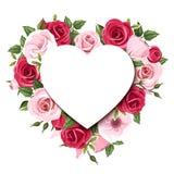 Tło z różami i lisianthus kwiatami Wektor EPS-10 Fotografia Stock