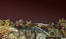 Tło z różnymi biżuteriami Zdjęcie Stock