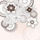 Tło z różnymi kwiatami Zdjęcia Royalty Free