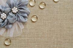 Tło z ręcznie robiony kwiatami w kącie Fotografia Royalty Free