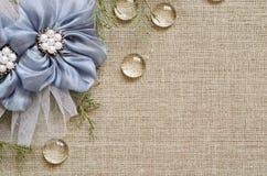 Tło z ręcznie robiony kwiatami w kącie Zdjęcie Stock