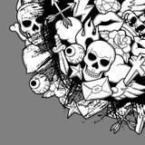 Tło z retro tatuaży symbolami Kreskówki starej szkoły ilustracja Zdjęcia Royalty Free