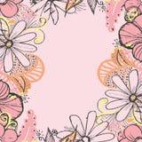 Tło z roczników kwiatami Fotografia Stock