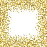 Tło z rozrzuconą złocistą confetti ramą Zdjęcie Royalty Free