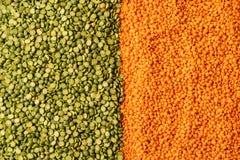 Tło z soczewic ziarnami roczna legume roślina, są bogaci w jarzynowej proteinie zdjęcie royalty free