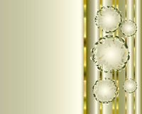 Tło z srebnymi bąblami Fotografia Royalty Free
