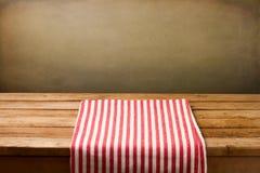 Tło z tablecloth Zdjęcia Royalty Free