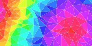 Tło z trójbokami w wiele kolorów nieładzie Obraz Royalty Free