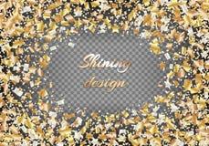 Tło z złotymi gwiazdami confetti royalty ilustracja