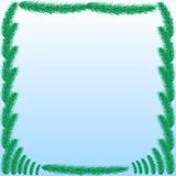 Tło z zielonymi jedlinowymi gałąź Obrazy Stock